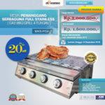 Jual Pemanggang Serbaguna Stainless Steel – Gas BBQ Grill 4 Tungku di Bogor