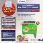 Jual Mesin Egg Roll Gas 6 Lubang GRILLO-GS6 di Bogor