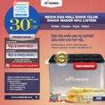 Jual Mesin Egg Roll Sosis Telur Snack Maker 4in1 Listrik di Bogor