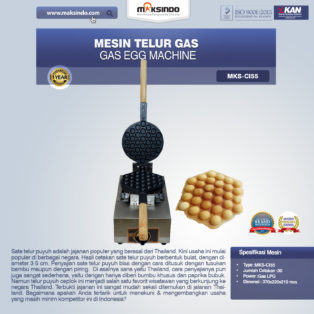 Jual Mesin Telur Gas (Gas Egg Machine) MKS-CI55 di Bogor