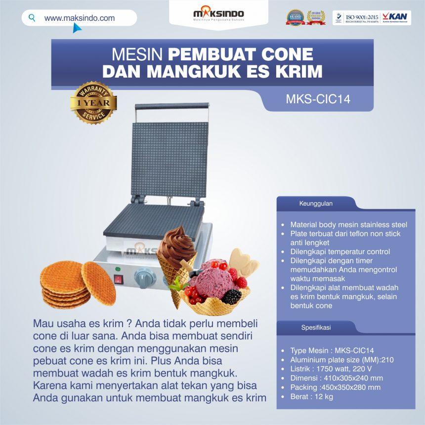Jual Pembuat Cone dan Mangkuk Es Krim (CIC14) di Bogor