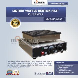 Jual Listrik Waffle Bentuk Hati 25 Lubang MKS-HSW25E di Bogor