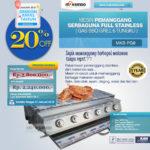 Jual Pemanggang Serbaguna – Gas BBQ Grill 2 Tungku Full Stainless di Bogor