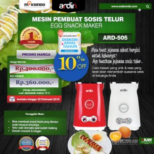 Jual Mesin Sosis Telur 2 Lubang ARDIN ARD-505 di Bogor
