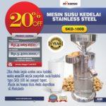 Jual Mesin Susu Kedelai Stainless (SKD-100B) di Bogor