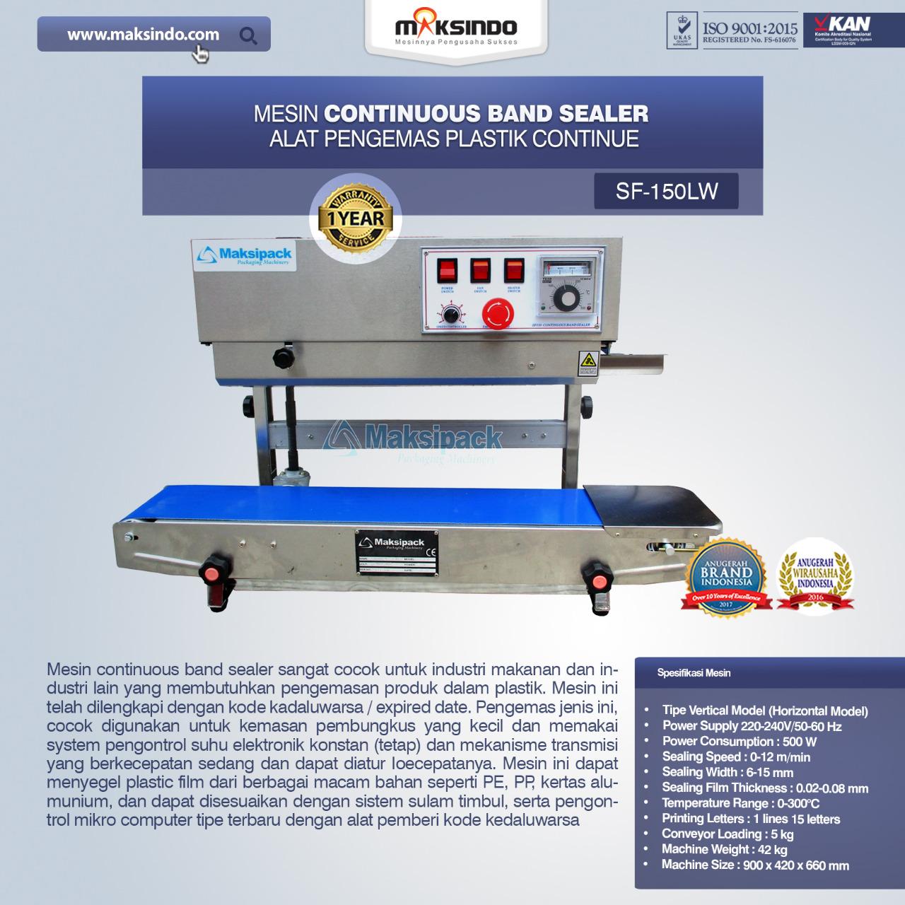 Jual Mesin Continuous Band Sealer SF-150LW di Bogor