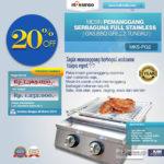 Jual Pemanggang Serbaguna Full Stainless – Gas BBQ Grill 8 Tungku di Bogor