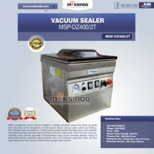 Jual Vacuum Sealer Double SealMSP-DZ400/2T di Bogor