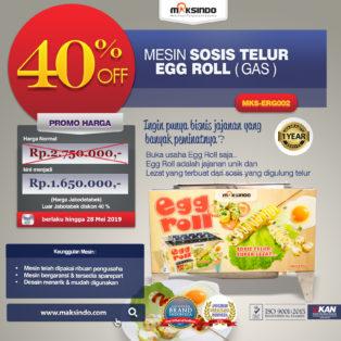 Jual Mesin Pembuat Egg Roll (Gas) MKS-ERG002 di Bogor