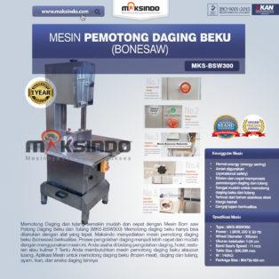 Jual Mesin Mesin Bonesaw Potong Daging Beku dan Tulang (MKS-BSW300) di Bogor