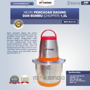 Jual Mesin Pencacah Daging Dan Bumbu (Chopper) MKS-BLD1.5L di Bogor