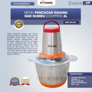 Jual Mesin Pencacah Daging dan Bumbu MKS-BLD3L di Bogor
