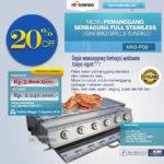 Jual Pemanggang Serbaguna – Gas BBQ Grill 6 Tungku Full Stainless di Bogor