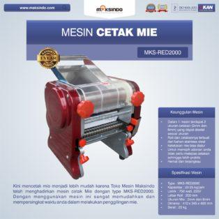 Jual Mesin Cetak Mie MKS-RED2000 di Bogor