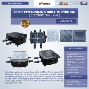Jual Mesin Pemanggang Grill Multiguna (Electric Grill 4in1) ARD-GRL88 Di Bogor