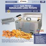 Jual Mesin Gas Fryer MKS-G20L + Keranjang Long Potato di Bogor