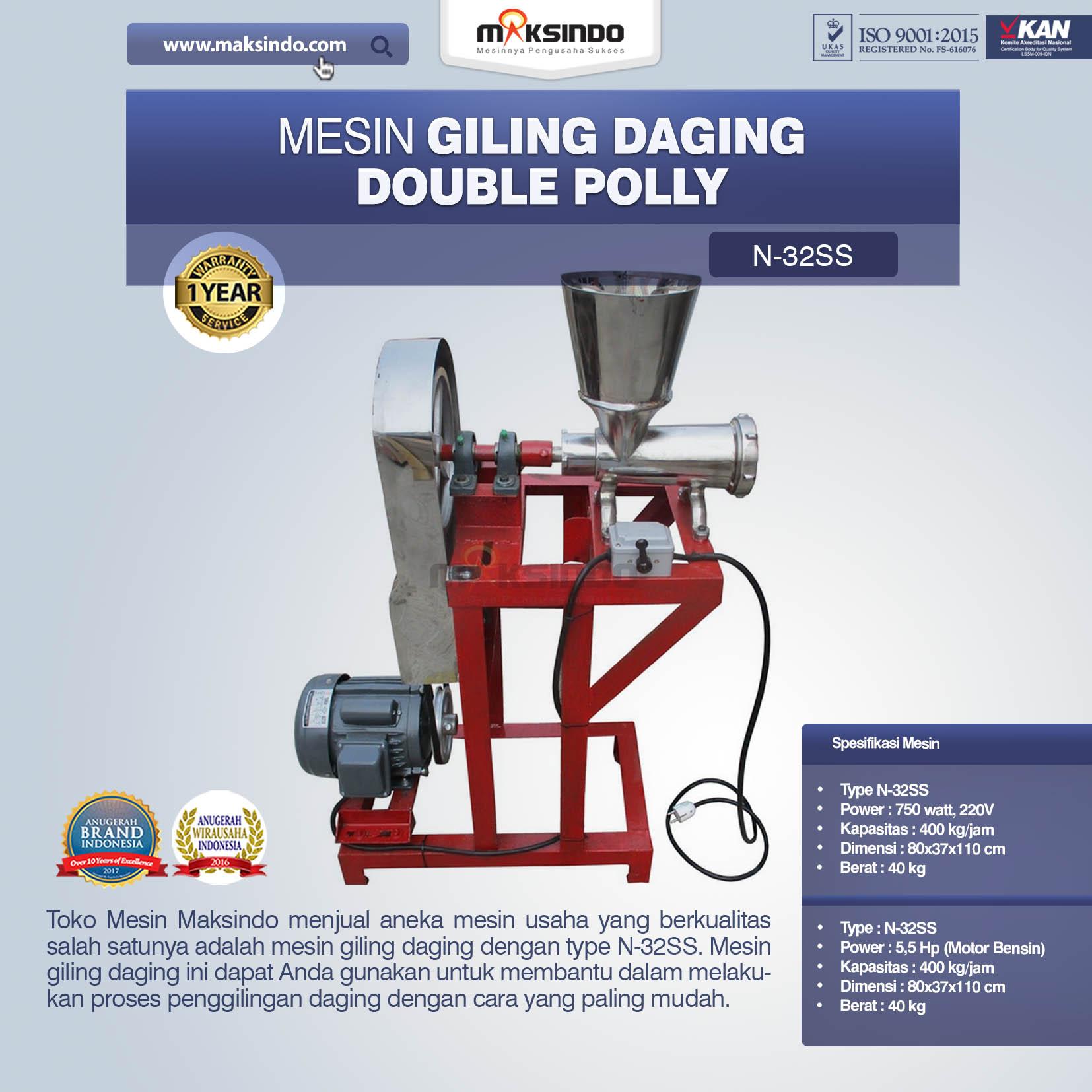 Jual Mesin Giling Daging Double Polly N-32SS di Bogor