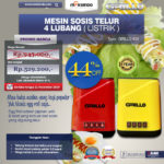 Jual Mesin Sosis Telur 4 Lubang Grillo-400 di Bogor
