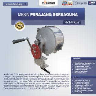 Jual Perajang Serbaguna MKS-MSL22 di Bogor