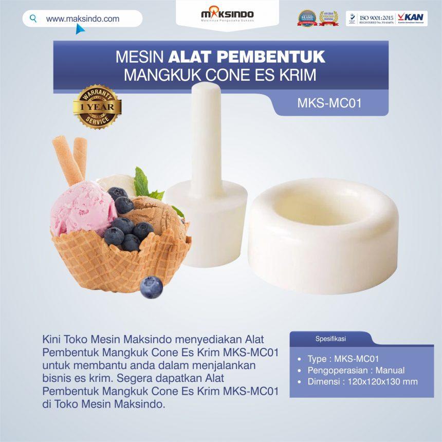 Jual Alat Pembentuk Mangkuk Cone Es Krim MKS-MC01 di Bogor