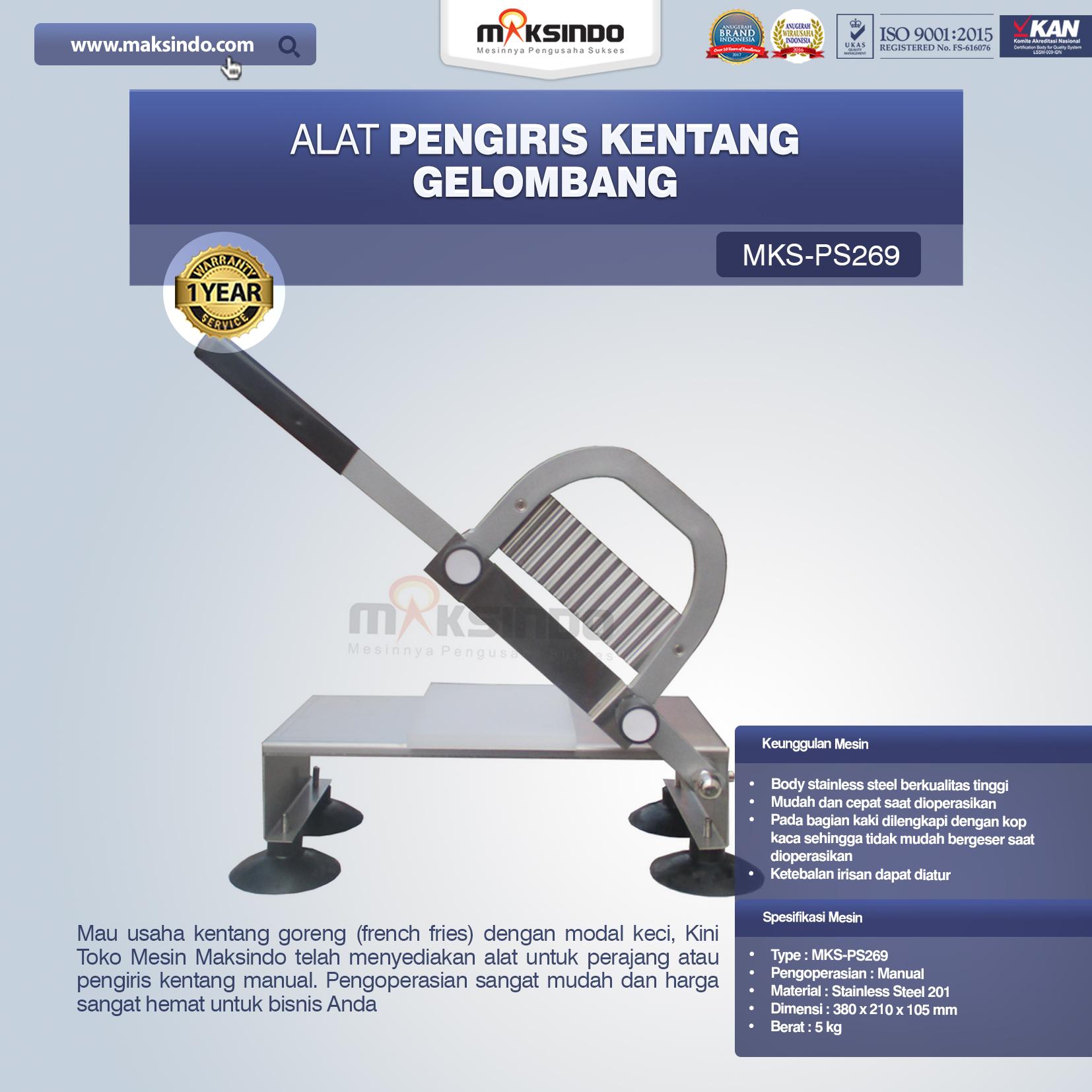 Jual Alat Pengiris Kentang Gelombang MKS-PS269 di Bogor