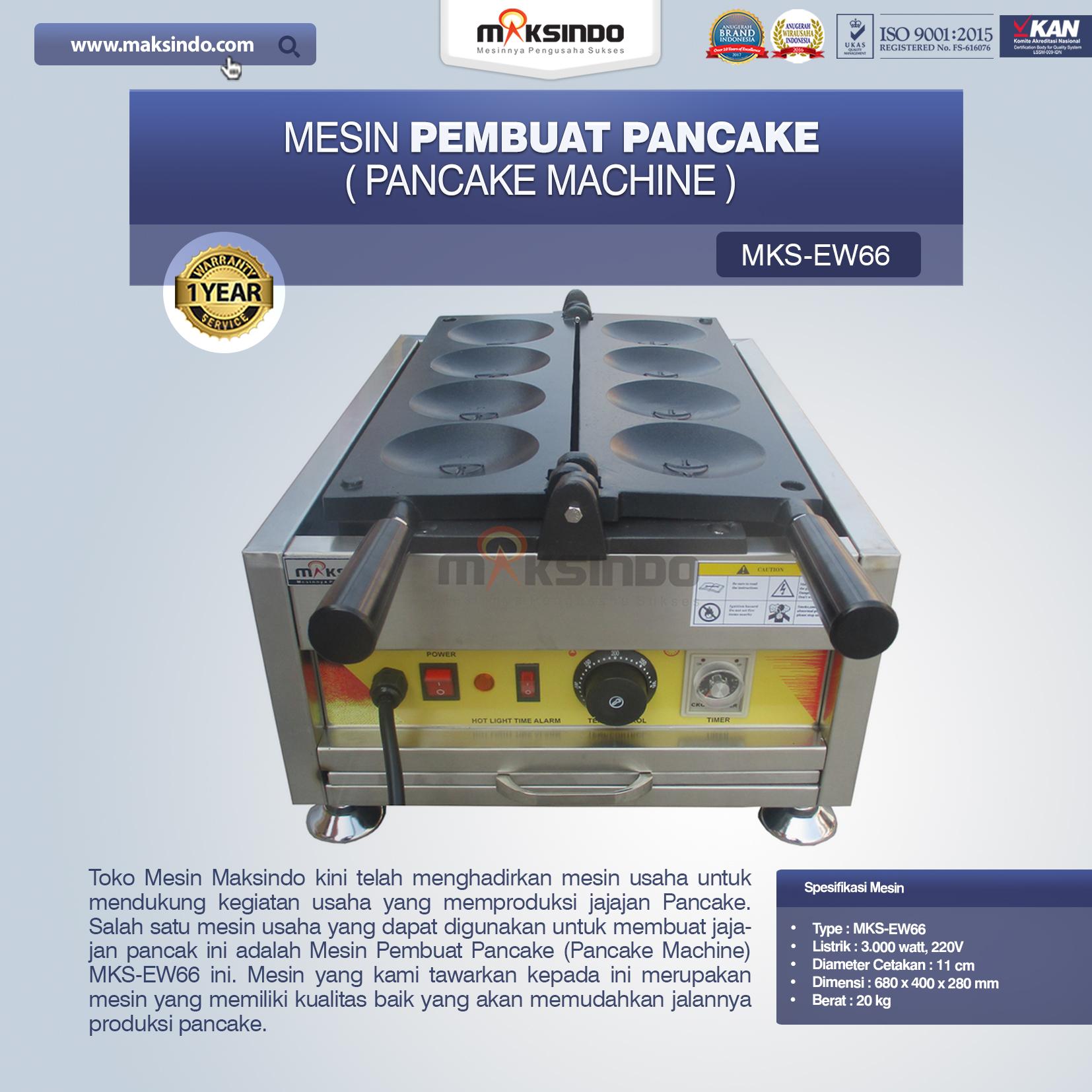 Jual Mesin Pembuat Pancake (Pancake Machine) MKS-EW66 di Bogor
