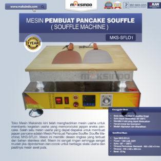 Jual Mesin Pembuat Pancake Souffle (Souffle Machine) MKS-SFL01 di Bogor