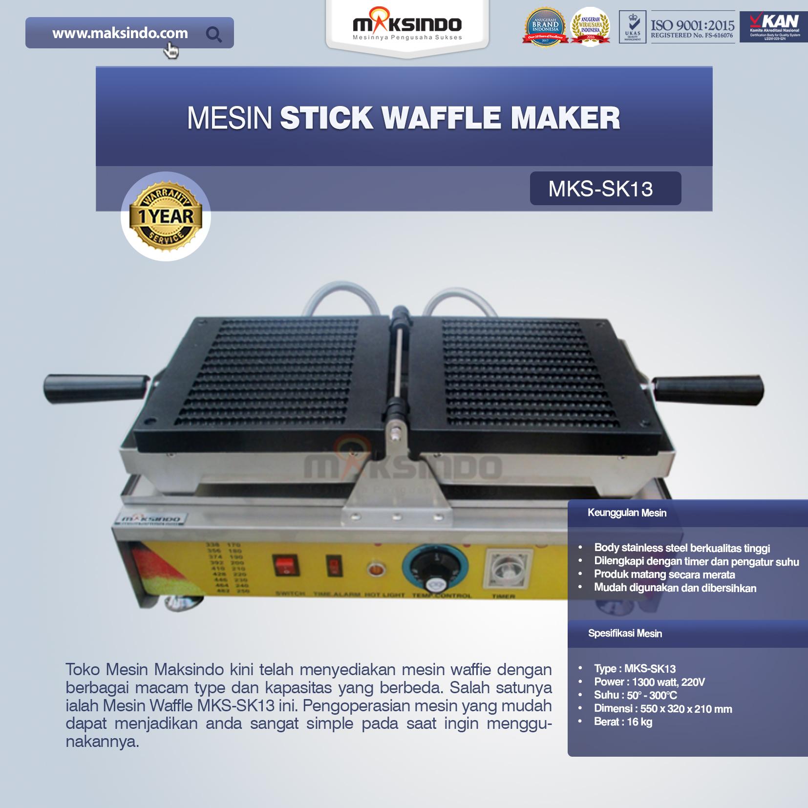 Jual Mesin Stick Waffle Maker MKS-SK13 di Bogor