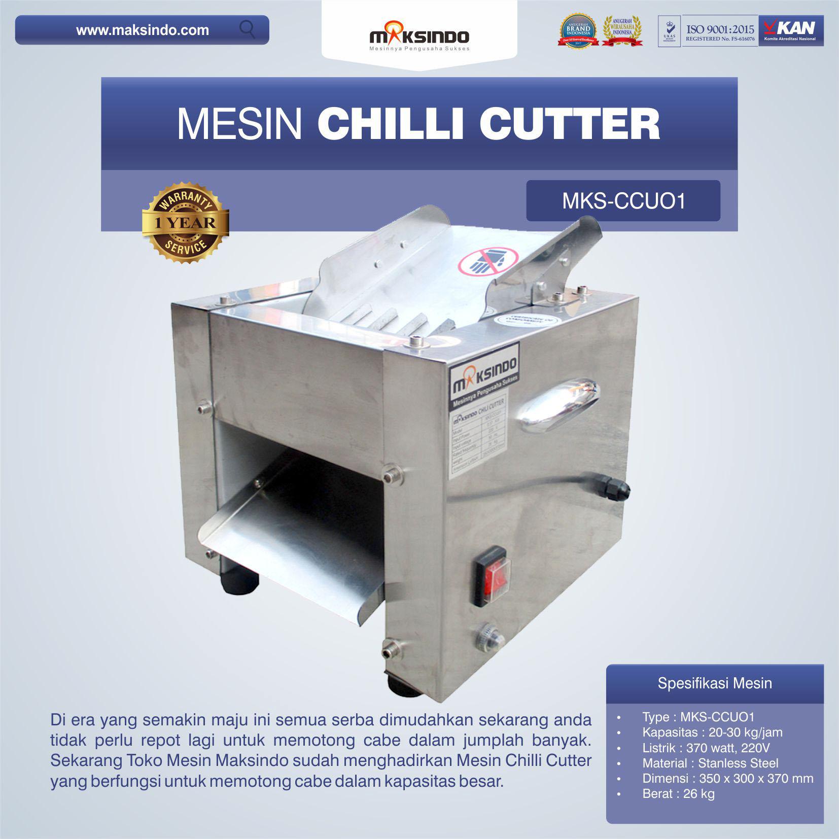 Jual Mesin Chilli Cutter MKS-CCU01 di Bogor