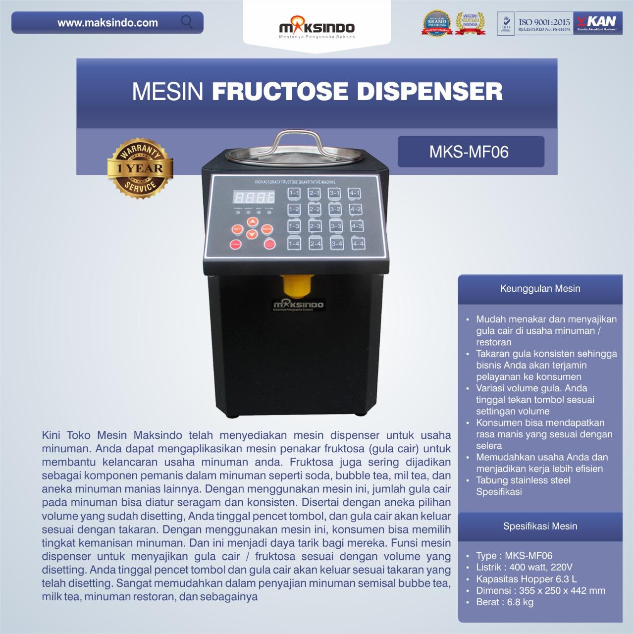 Jual Mesin Fructose Dispenser MKS-MF06 di Bogor
