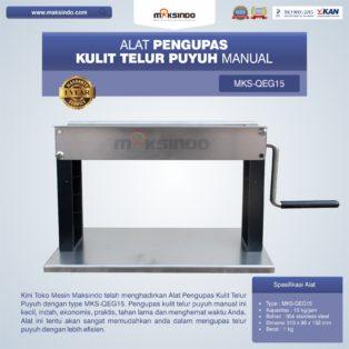 Jual Alat Pengupas Kulit Telur Puyuh Manual MKS-QEG15 di Bogor