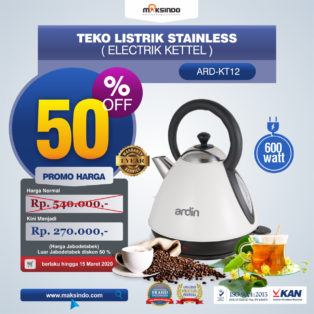 Jual Teko Listrik Stainless (Electrik Kettel) ARD-KT12 di Bogor