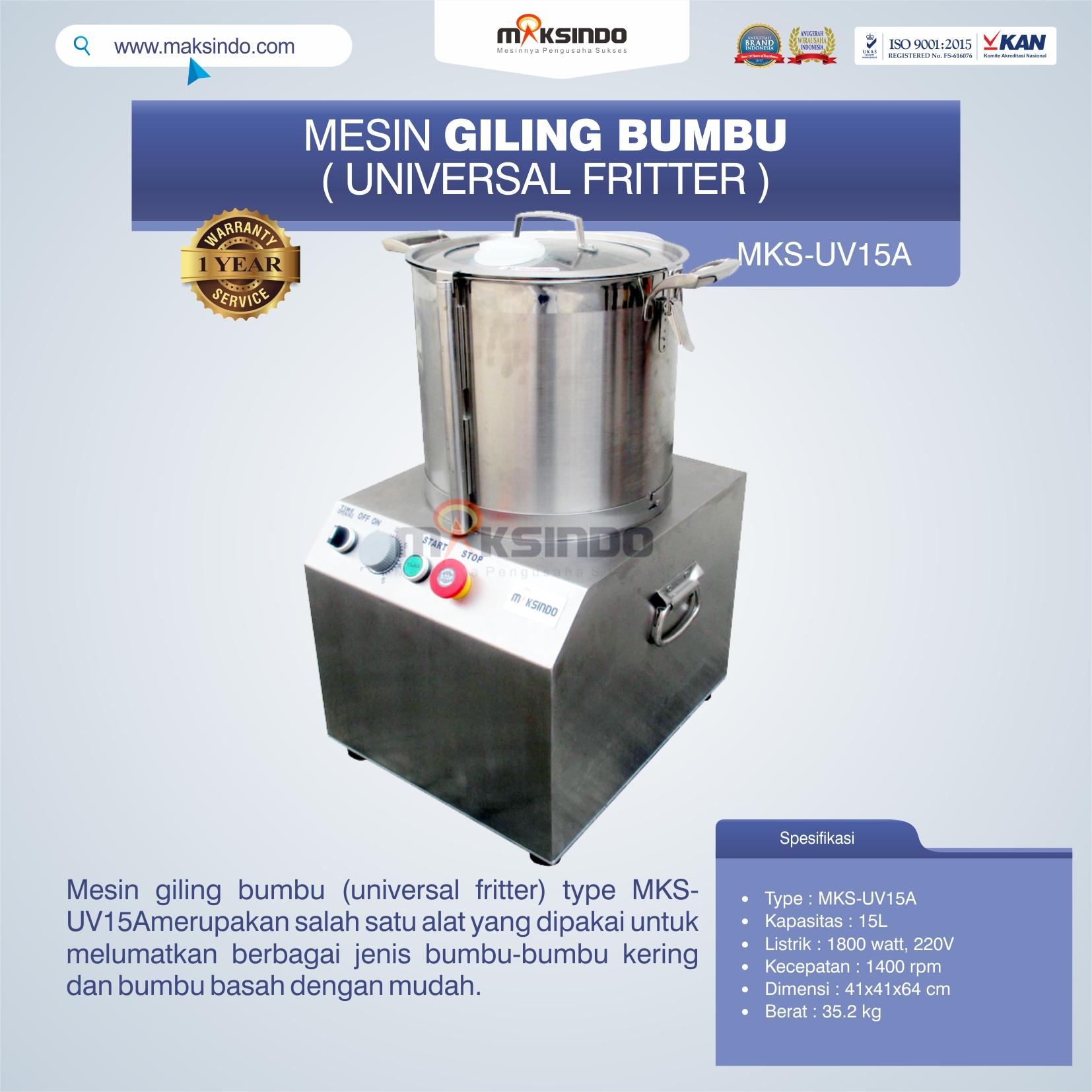 Jual Mesin Giling Bumbu (Universal Fritter) MKS-UV15A di Bogor