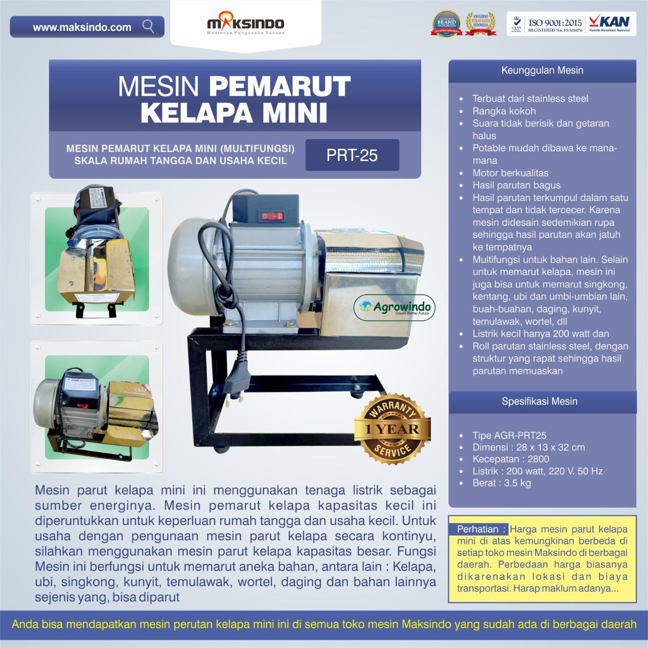 Jual Mesin Parut Kelapa Mini AGR-PRT25 di Bogor