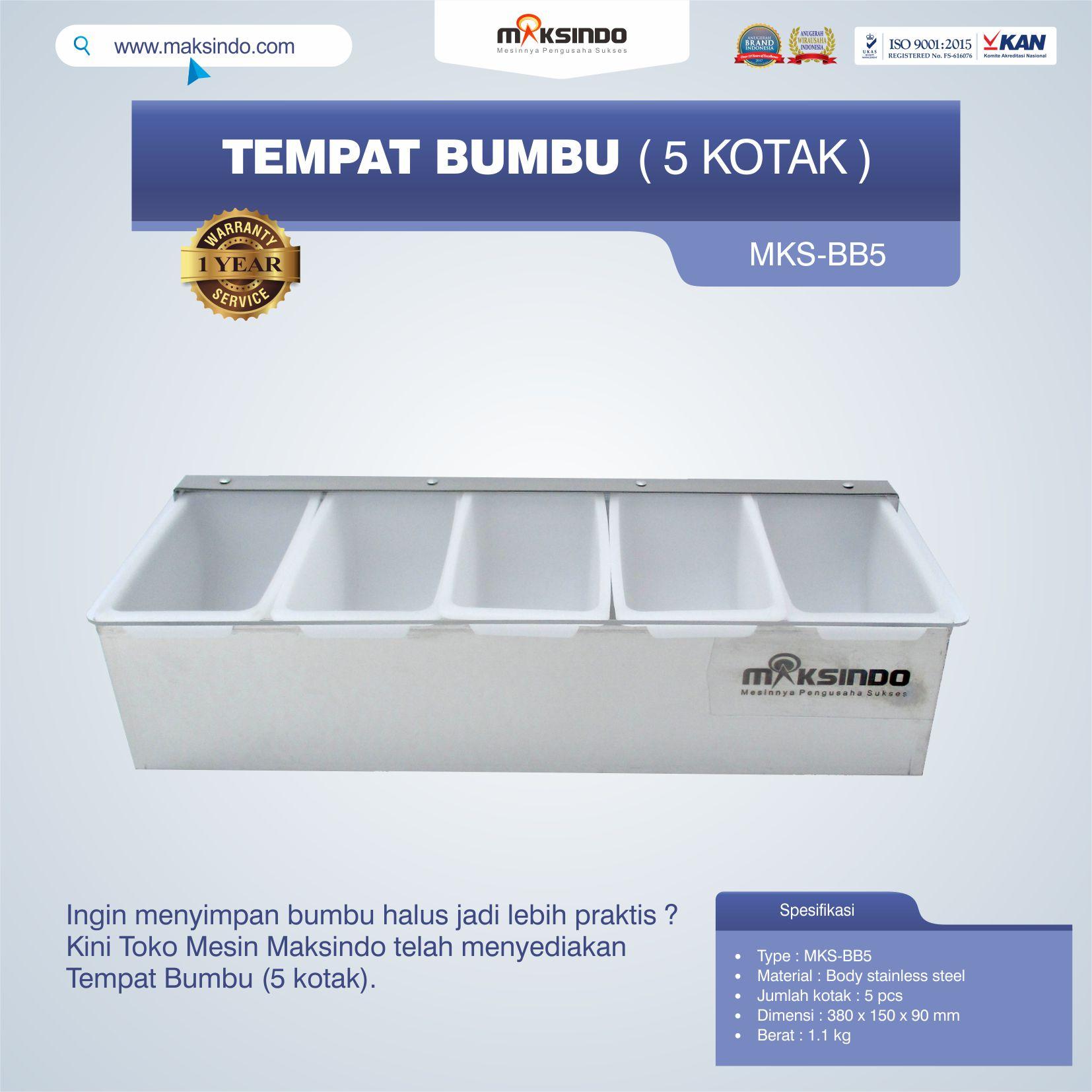 Jual Tempat Bumbu (5 kotak) di Bogor