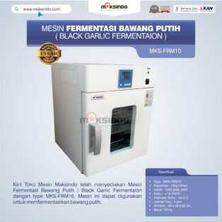 Jual Mesin Fermentasi Bawang Putih / Black Garlic Fermentaion MKS-FRM10 di Bogor