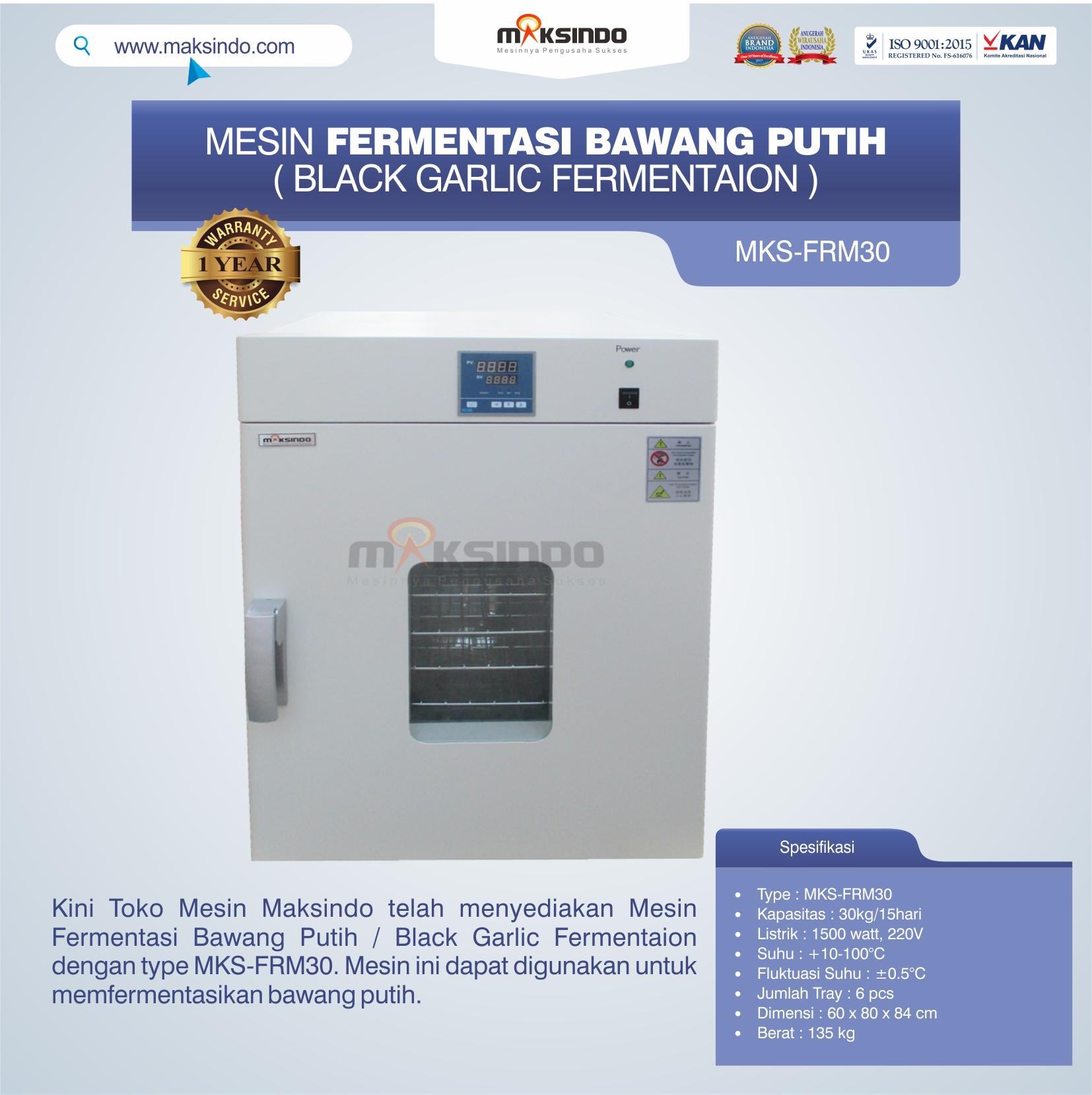 Jual Mesin Fermentasi Bawang Putih / Black Garlic Fermentaion MKS-FRM30 di Bogor