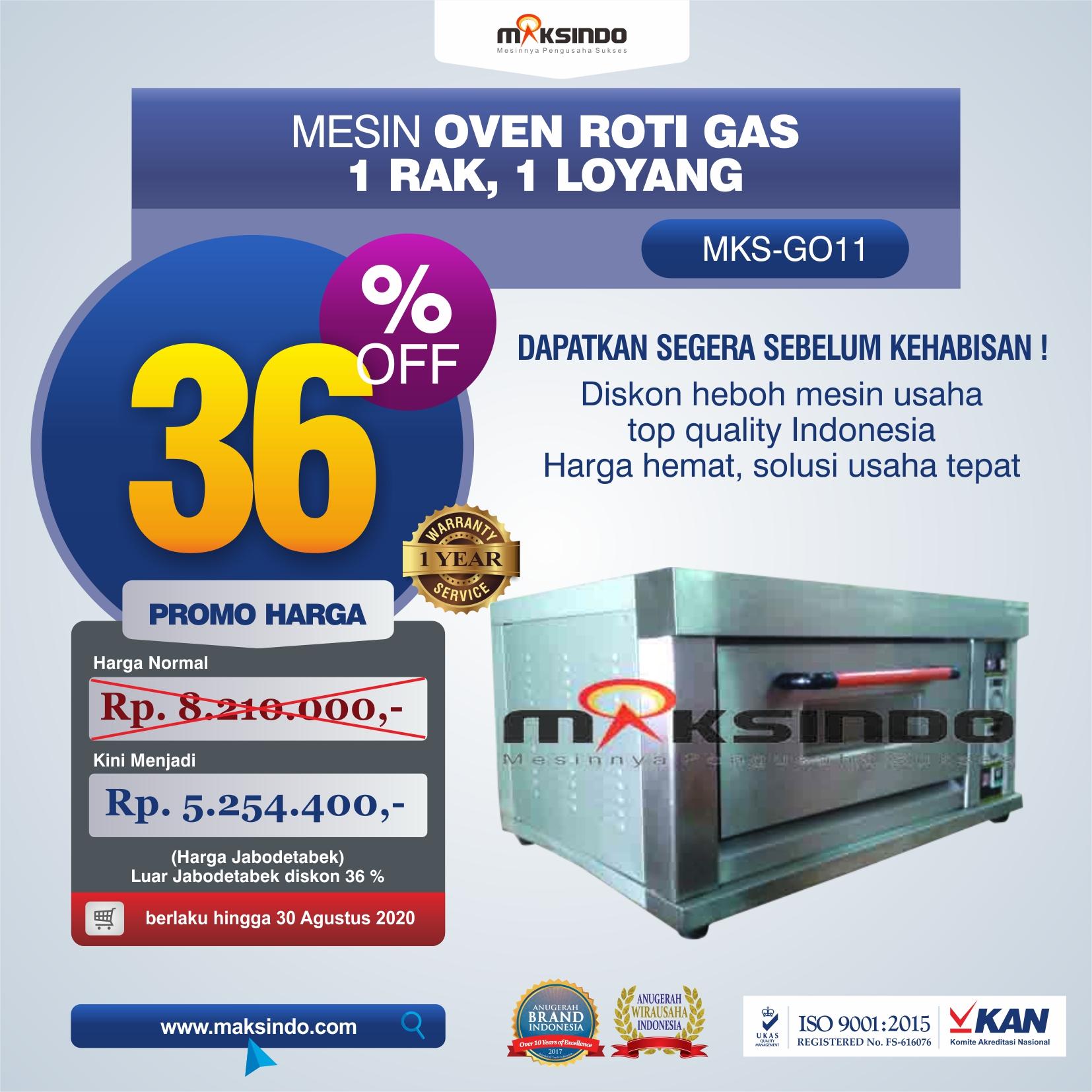Jual Mesin Oven Roti Gas (MKS-GO11) di Bogor