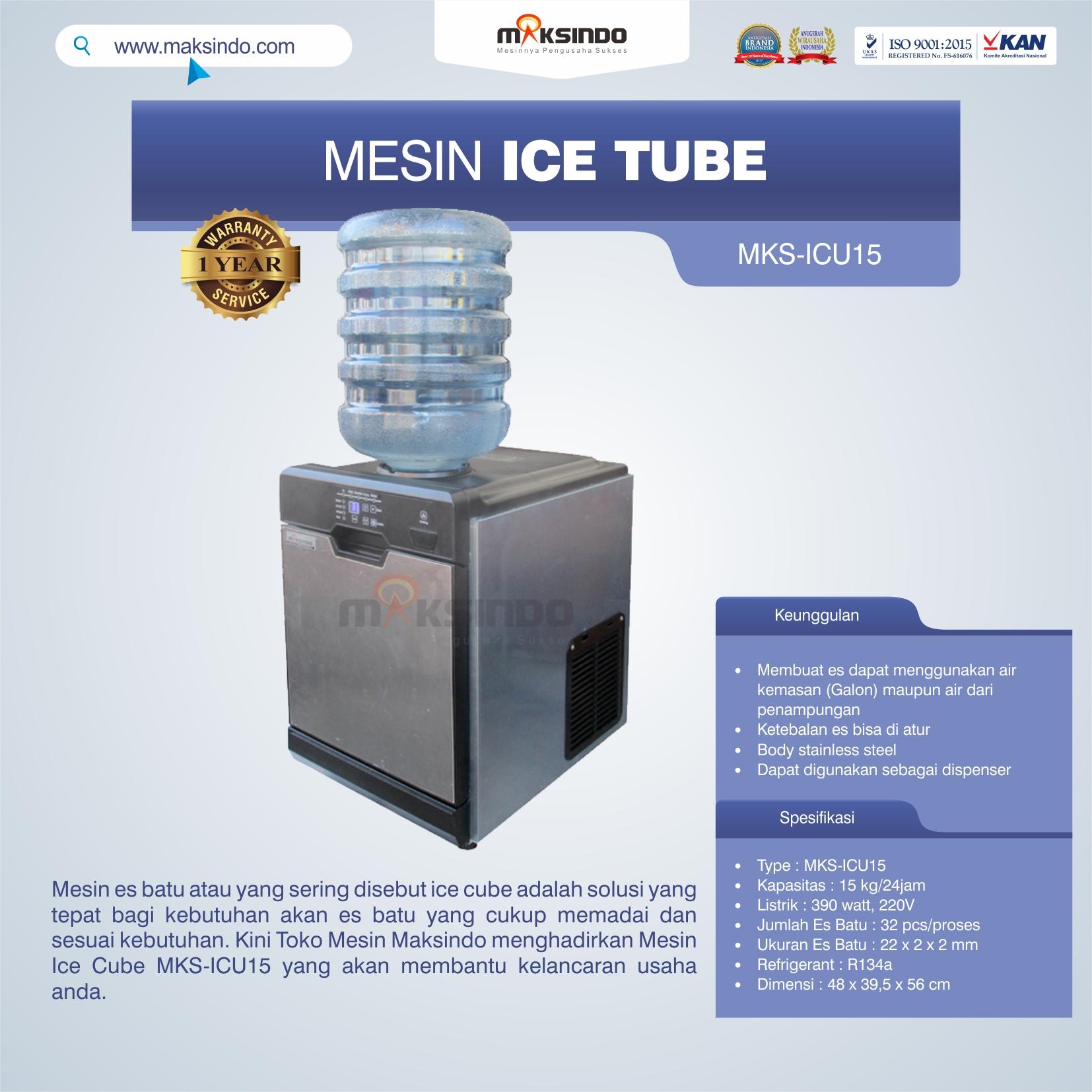 Mesin Ice Cube MKS-ICU15 di Bogor