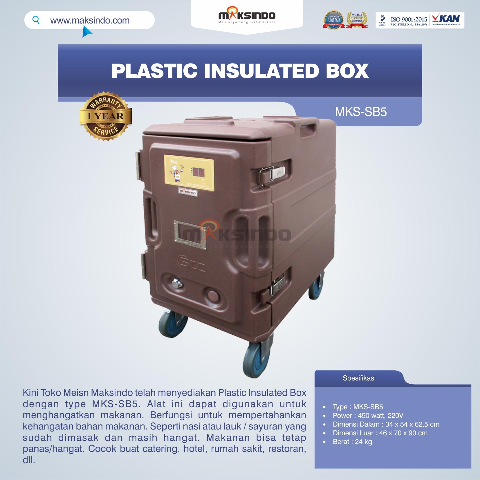 Jual Plastic Insulated Box MKS-SB5 di Bogor