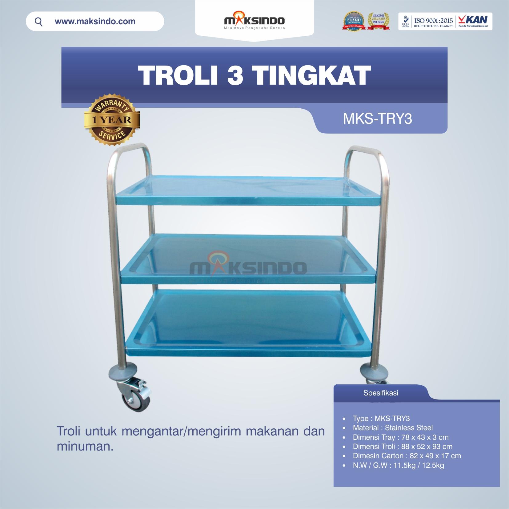 Jual Troli 3 Tingkat MKS-TRY3 di Bogor