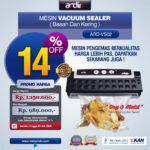 Jual Mesin Vacuum Sealer VS02 Ardin (basah dan kering) di Bogor