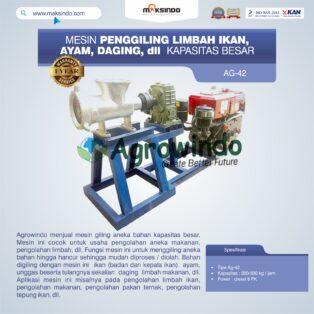 Jual Mesin Penggiling Limbah Ikan, Ayam, Daging, dll Kapasitas Besar di Bogor