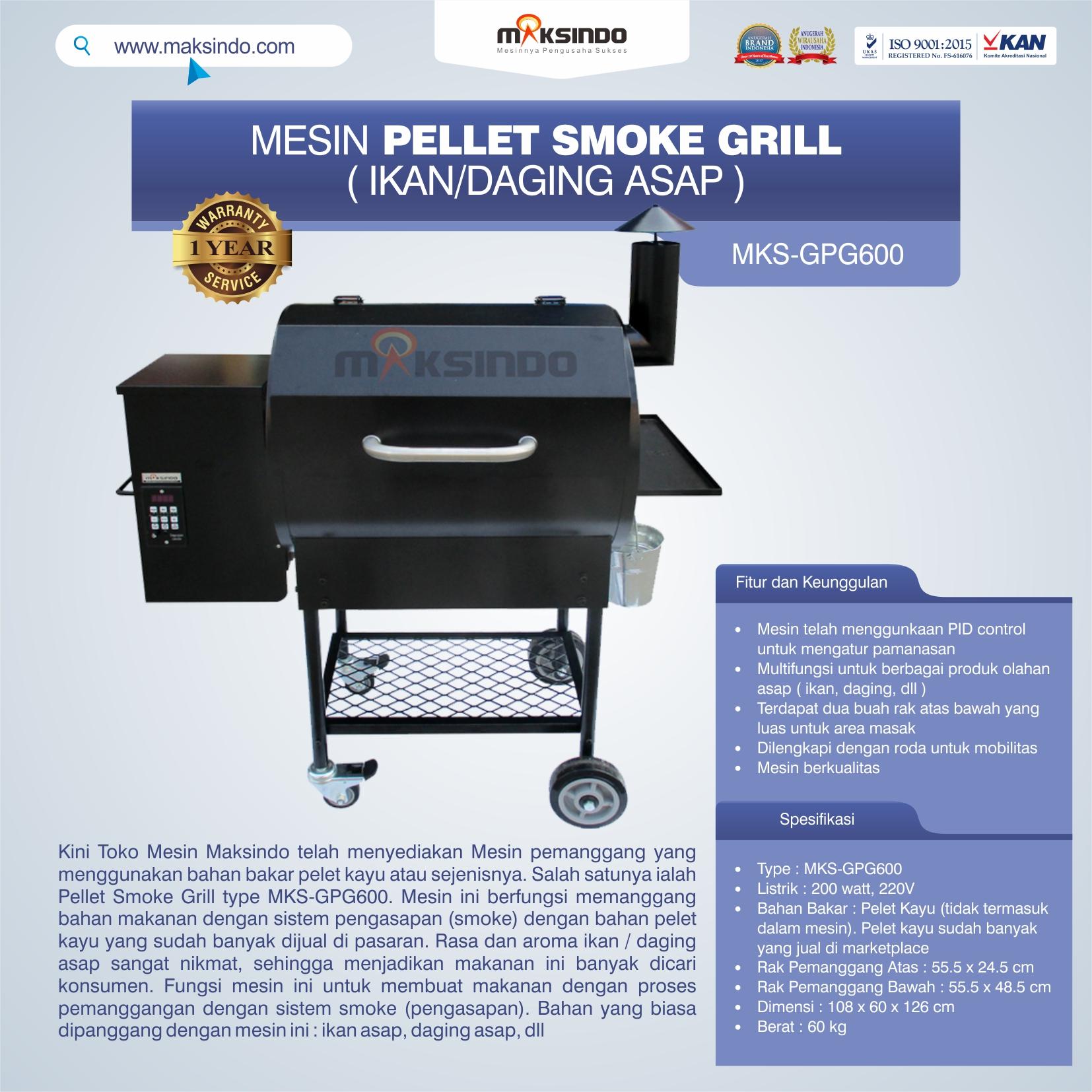 Jual Pellet Grill MKS-GPG600 di Bogor