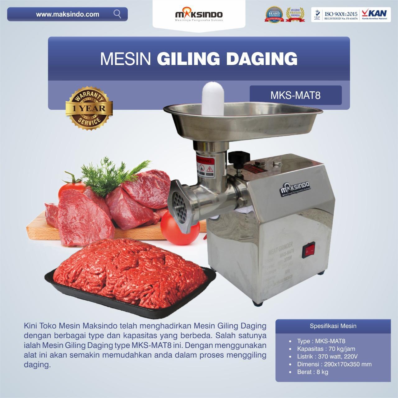 Jual Mesin Giling Daging MKS-MAT8 di Bogor