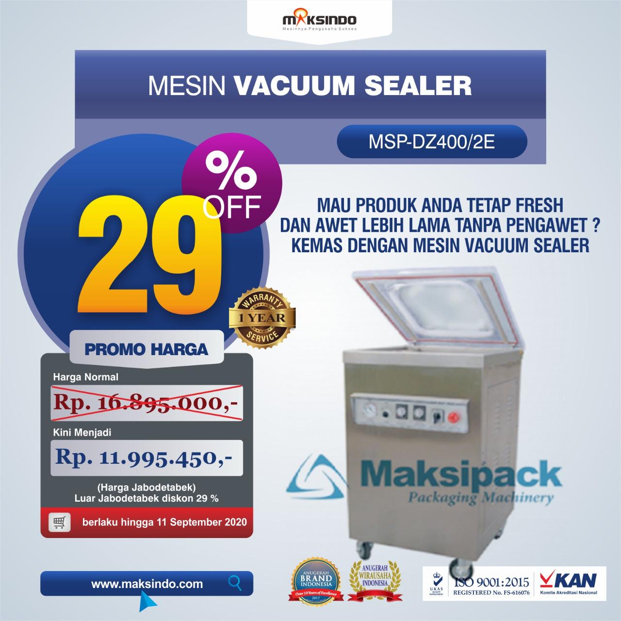 Jual Mesin Vacuum Sealer Type (MSP-DZ400/2E) Di Bogor