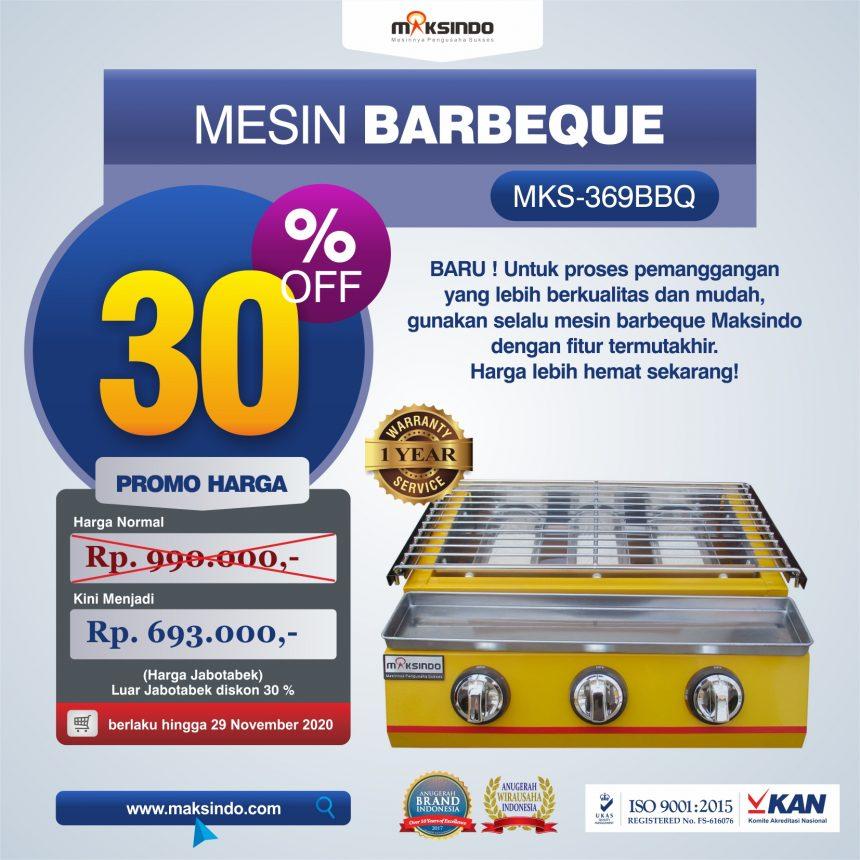 Jual Mesin Pemanggang Sate – BBQ 3 Tungku (Gas) MKS-369BBQ di Bogor