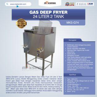 Jual Gas Deep Fryer 24 Liter 2 Tank (G74) Di Bogor