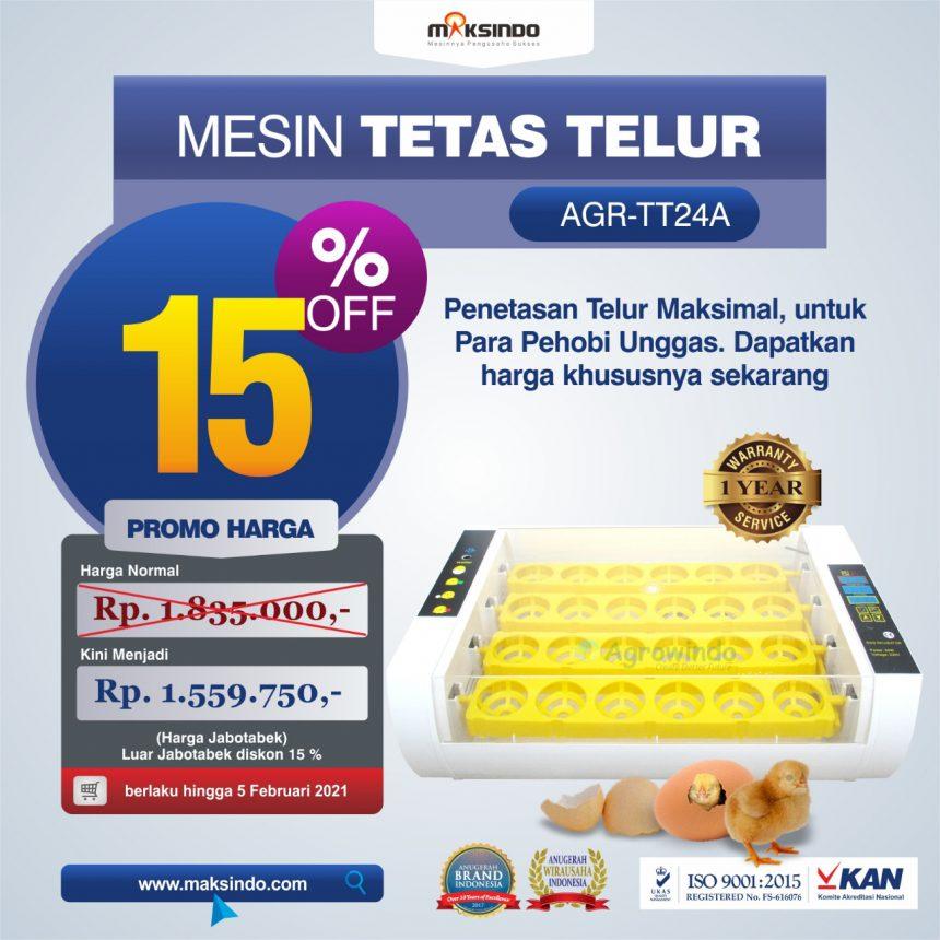 Jual Mesin Penetas Telur AGR-TT24A di Bogor