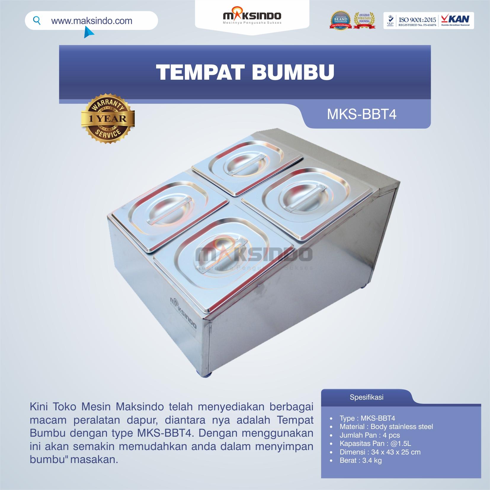 Jual Tempat Bumbu MKS-BBT4 di Bogor